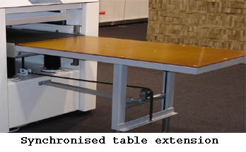 Top star table extension