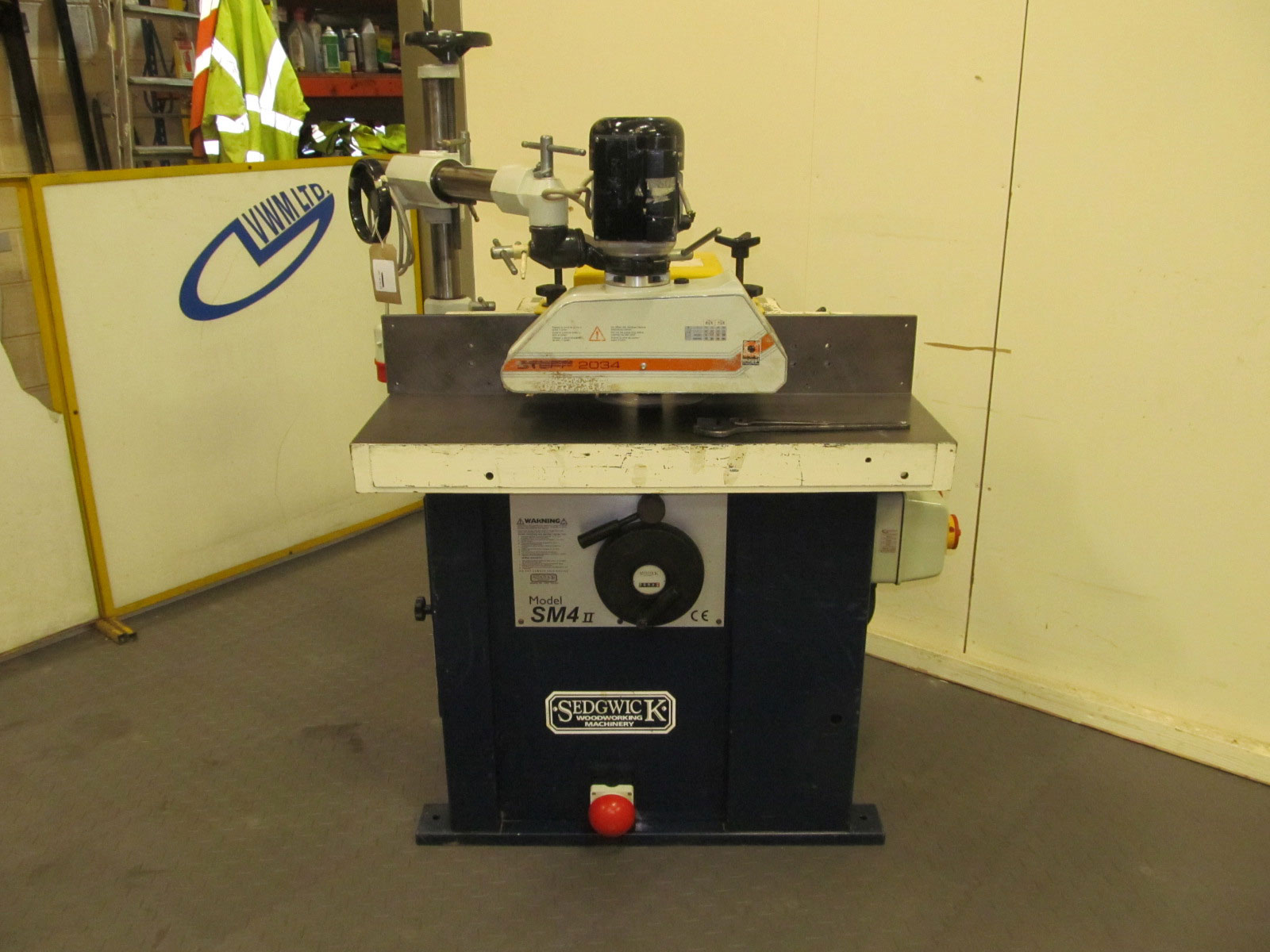 Sedgwick SM4 Mk2 spindle with Steff power feed unit
