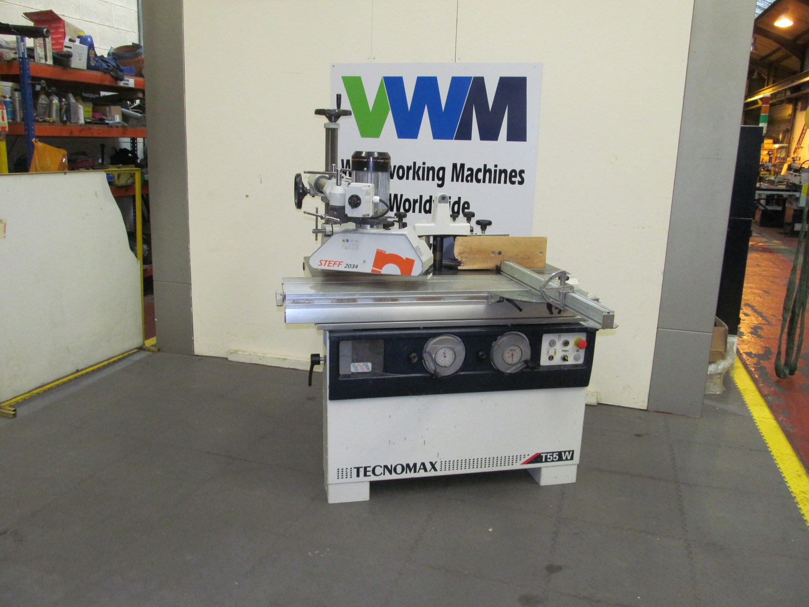 Technomax T55 tilting spindle with sliding table
