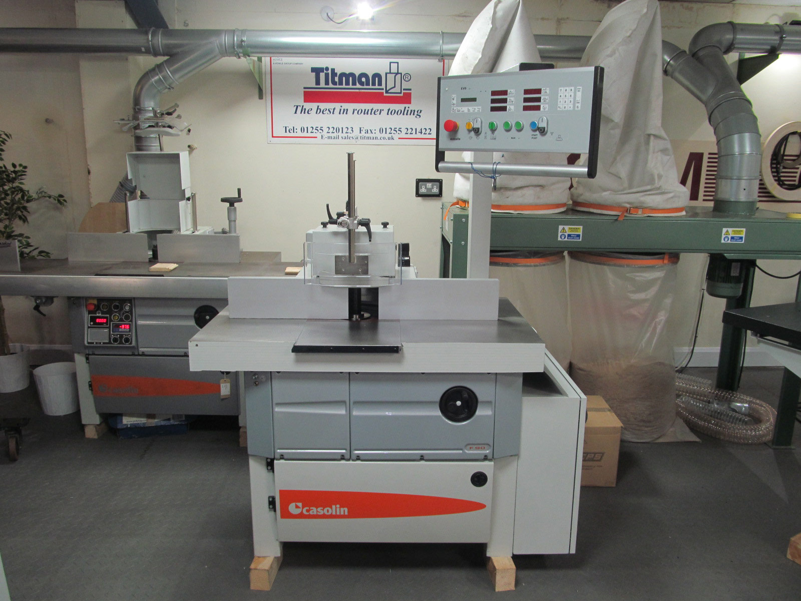 Casolin F90K 2 axis spindle moulder