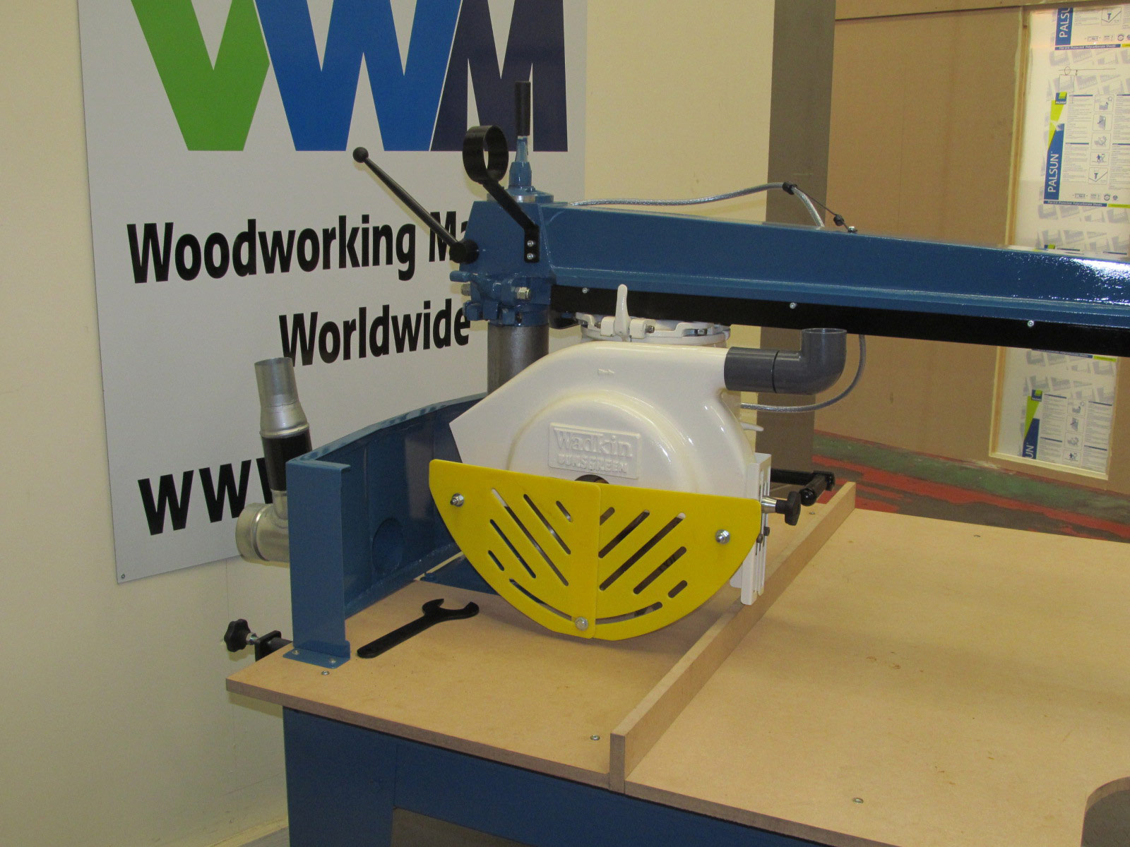 Wadkin 350 Long arm BRA cross cut saw 4