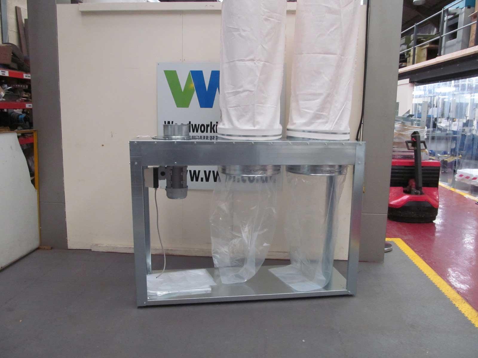 Salvamac twin bag mobile dust unit
